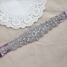 Vintage Crystal Beaded Wedding Belts And Sashes Rhinestone Brides Belts Fashion Bridal Dress Wasitband Accessories