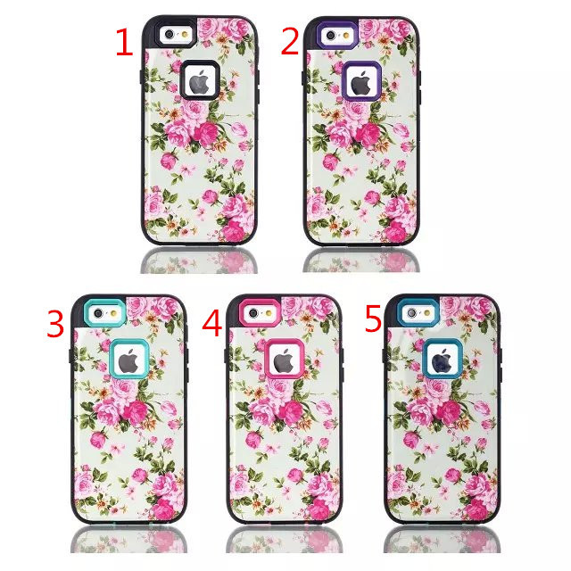 1PCS case for iPhone 6 4.7 IMDB white flowers plug Case TOU Silicon shell mobile phone Case Cover in stock(China (Mainland))
