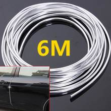 7mm 3 Meters 6M Moulding Trim Strip Car Door Edge Scratch Guard Protector Strip Roll New(China (Mainland))