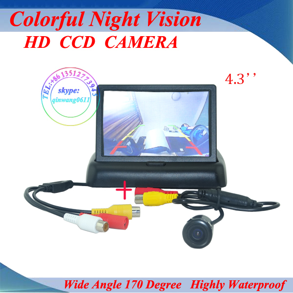 """Promotion 4.3"""" inch TFT LCD Car Monitor Rear View camera Kit Reversing Rear Camera Parking Assistance System Free Shipping(China (Mainland))"""