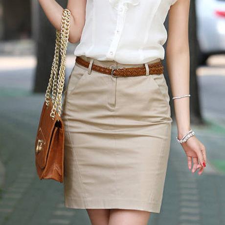 Прямая юбка на лето