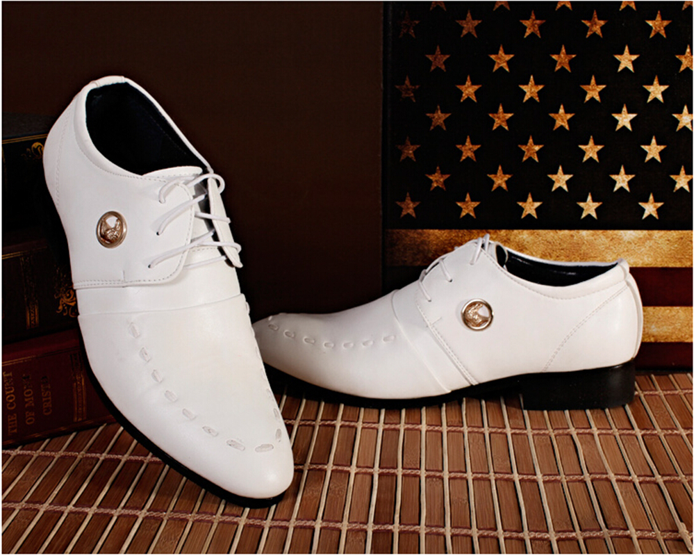 British Style Fashion Men's Wedding Oxford Shoes Male Office Pointed Toe Shoe Patent Leather Dress - shoe store