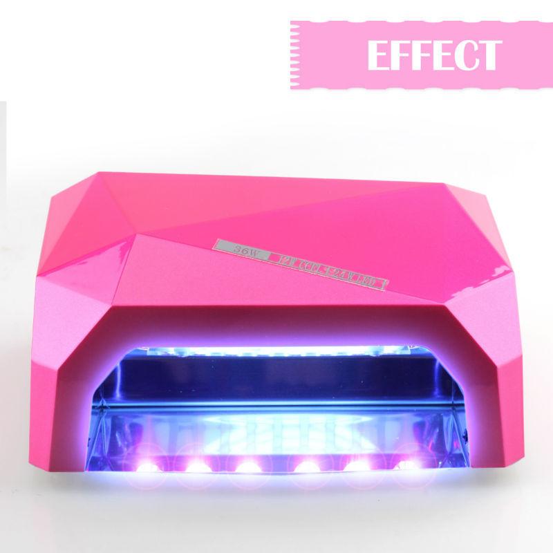 36W Nail Lamp High Quality UV Lamp Diamond Shaped Curing Nail Dryer for LED UV Gel Nail Polish nail tools <br><br>Aliexpress