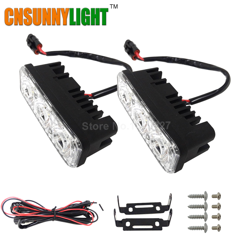 CNSUNNYLIGHT Waterproof Car High Power Aluminum LED Daytime Running Lights with Lens DC12v Xenon White 1set DRL(China (Mainland))