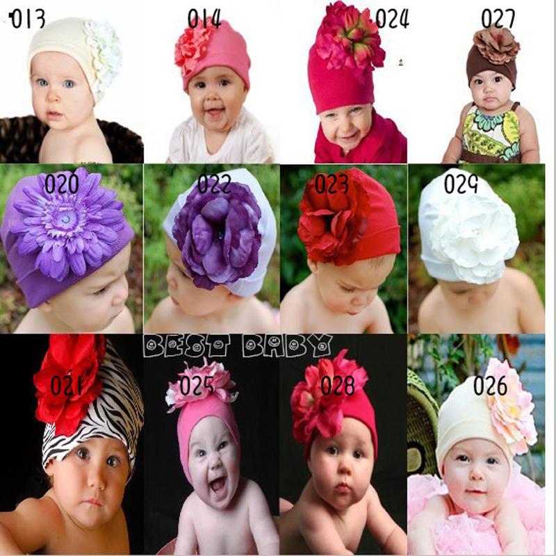 Retail Baby Beanies Cartoon Big Flower Girls Spring Autumn Caps Knitte Photography Props Headwear Baby Girls Beanies Accessories(China (Mainland))