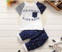 13 kinds of New style summer clothing sets kids pants + Top boys girls Navy Stripe kids thanks children tracksuit(China (Mainland))