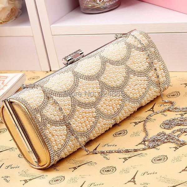 New diamond pearl evening bags womens clutches chain ladies bags small Wallet vintage handbags luxury stars beaded party bag<br><br>Aliexpress