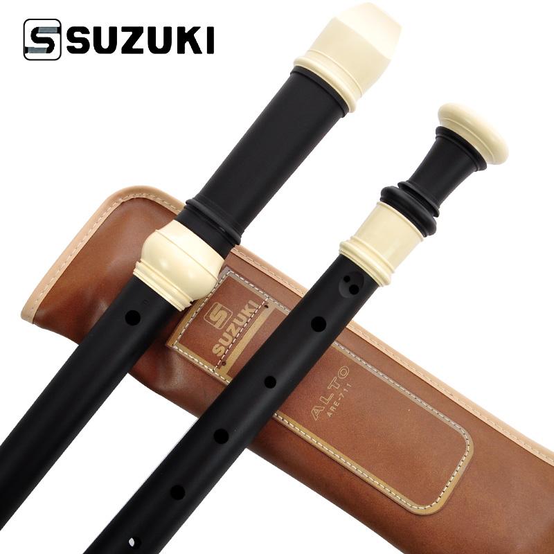 SUZUKI ARE-711 Clarinet Recorder British 8 Holes Alto Recorder Music instrument Baroque Professional Performance(China (Mainland))