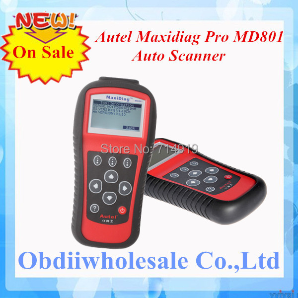 DHL Free Ship MD801 code reader 2017 Autel pro MD 801 maxidiag 4 in 1 scan tool MD 801 scanner(JP701 + EU702 + US703 + FR704)(China (Mainland))