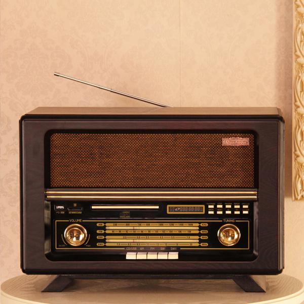 R066 vintage radio cd player usb mp3 audio amplifier old fashioned fm