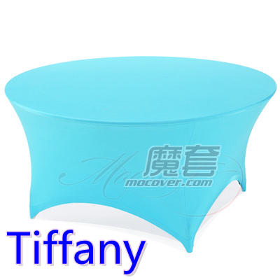 Spandex table cover,Tiffany Colour,round lycra stretch table cloth,fit 5ft-6ft round wedding,hotel,banquet and party decoration(China (Mainland))