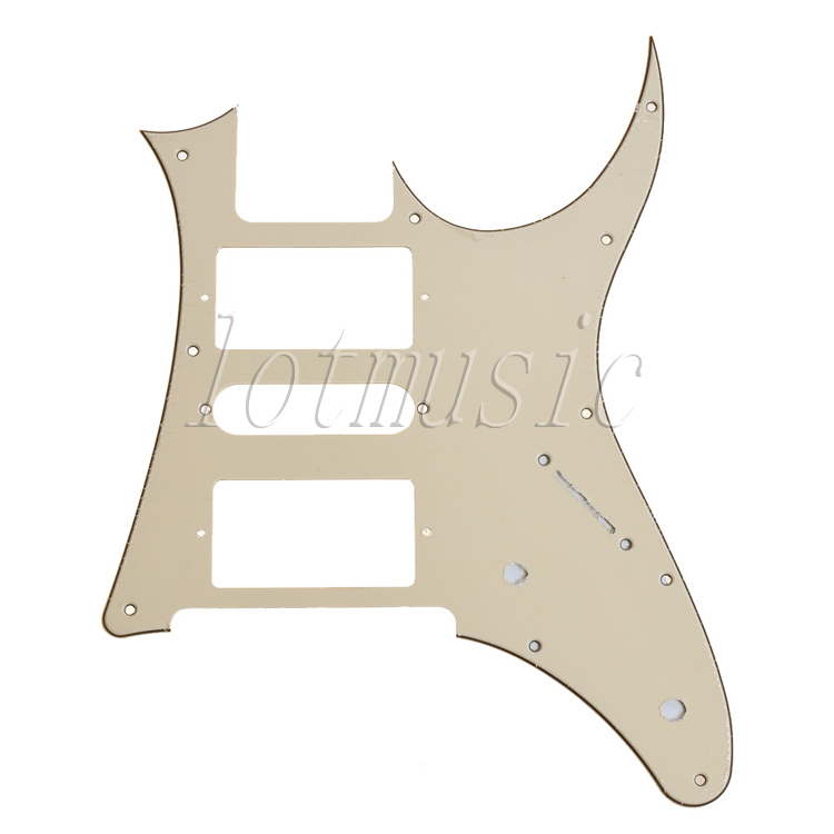 Cream Electric Guitar Pickguard HSH For Ibanez RG250 Replacement 7V PVC(China (Mainland))