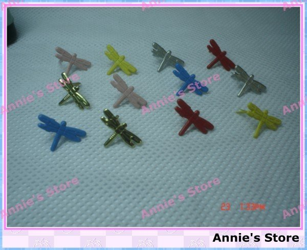 PROMOTION! Wholesale Scrapbooking Brads, metal brad, dragonfly brads, Free Shipping,18*12mm butterfly