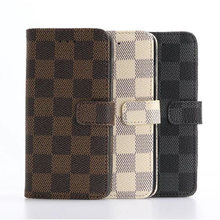 For Sony XP High Quality Elegant Tartan Design Wallet Card Holder Stand Leather Case for Sony XP Grid Phone Bags