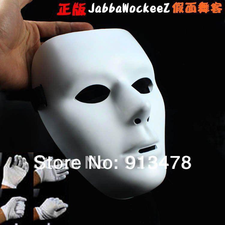 hiphop mask HIPHOP mask Jabbawockeez mask white men's and women's mask Street Step Dance Free shipping(China (Mainland))