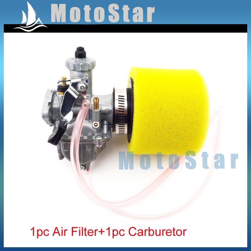 Mikuni VM22 26mm Carburetor Carb + Yellow 38mm Air Filter For 110 125cc 140cc Engine Chinese ATV Quad Pit Dirt Motorcycle Bike(China (Mainland))