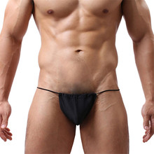 Kimisohand   Chic Men Sexy G-string Thongs Bikini Underwear Bag Bulge Pouch Briefs T-back(China (Mainland))