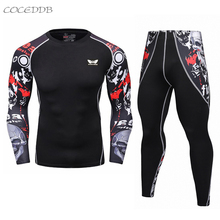 Buy 2017 Men's T shirts MMA Compression Shirt Crossfit T-shirt Men Workout Fitness Tights Brand Clothing Top 2XL for $12.74 in AliExpress store