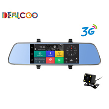 Dealcoo 7 inch Car GPS Navigator Android 5.0 with DVR mirror Bluetooth Built-in 16GB sat nav Eeurope RU US Maps Free Updates