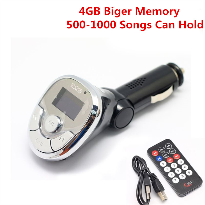 Within 4GB Memory Real multi-function 12V-24V car MP3 Player FM transmitter modulator music play AUX audio input USB charger(China (Mainland))