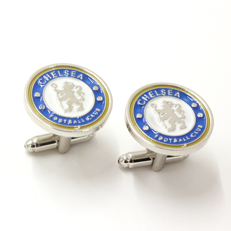 New Arrival 1998 Chelsea Football Club Cufflinks For Mens Christmas Gifts Shirt Brand Cuff Buttons Silver Jewelry Free Shipping(China (Mainland))