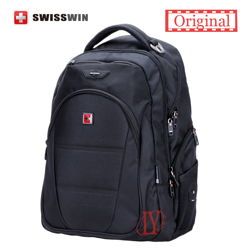 Гаджет  New Business Traveler Backpack Swisswin Women Men Waterproof 12-15.6 Inch Laptop Backpacks None Компьютер & сеть