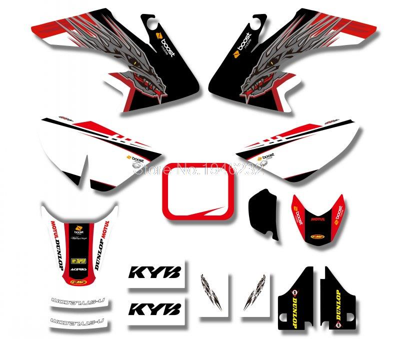 Power New Arrive TEAM GRAPHICS&BACKGROUNDS DECAL STICKERS Kits For Honda CRF50 STYLE Pit Dirt bike(Black/White) Good Quality(China (Mainland))