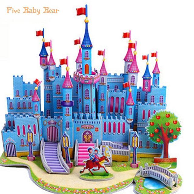 пазлы Brinquedo Educativo паззлы для детей детские игрушки развивающие 3d Diy прекрасный бумаги замки дома