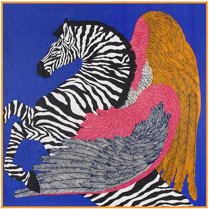 New Arrival 100cm*100cm 100% Twill Silk Women Big Square Scarf Zebra Horse and Feather Printed kerchief(China (Mainland))