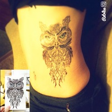 Wise Owl Temporary Tattoo Body Art Sleeve Arm Flash Tattoo Sticker 12*20cm Waterproof Henna Fake Tatoo Sticker Beauty Selfie
