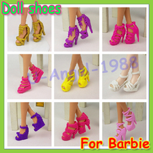 Wholesale 1200pairs Colorful Assorted shoes for Barbie Doll with Different styles Fashion Toy (100bag))(China (Mainland))