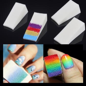 Wholesale 50Pcs Gradient Nails Soft Sponges For Nail Polish Color Fade Woman DIY Acrylic Makeup Manicure Nail Art Accessory