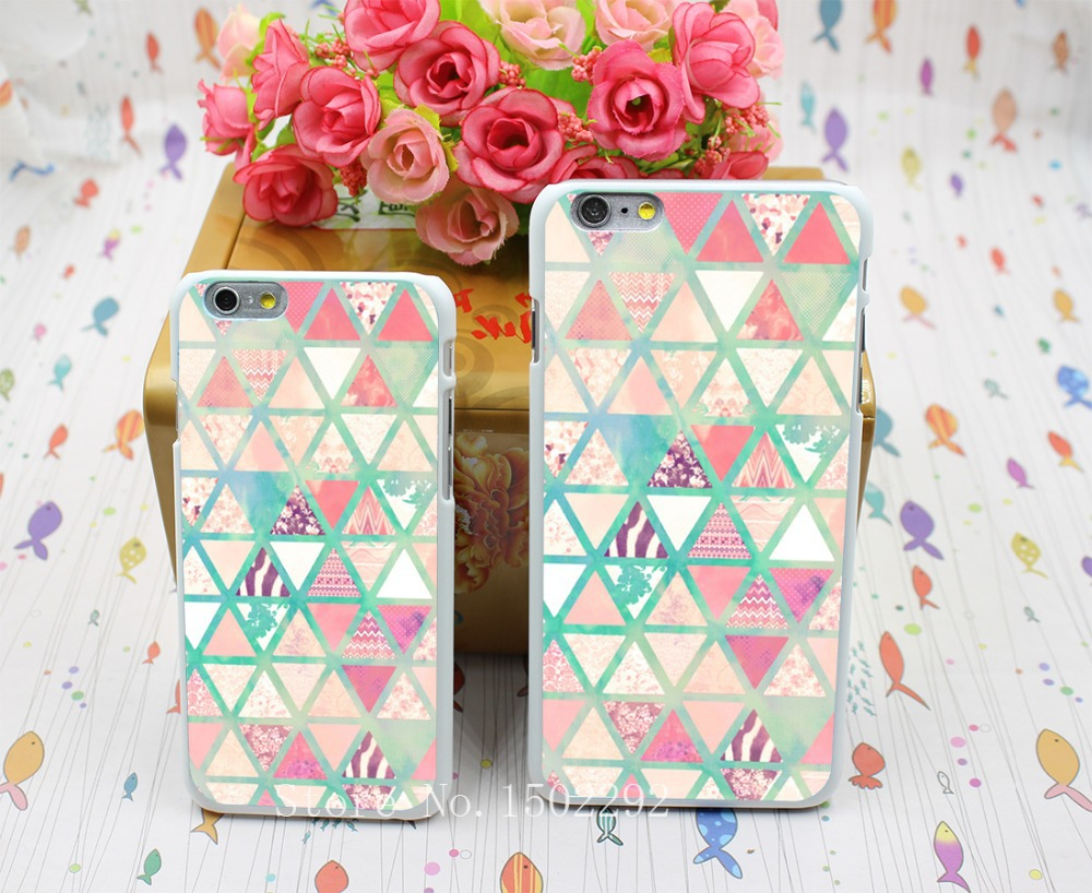 New Arrival pink and turquoise Back Skin Case for iPhone 6 6s 6 plus Protect Cell Phone Cover(China (Mainland))