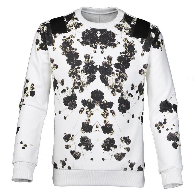 2015 New réel complet Moletom suprême Hoodie survêtement Gvc le souffle du bébé fleurs parfaite impression Weatershirt col rond Hoodies(China (Mainland))