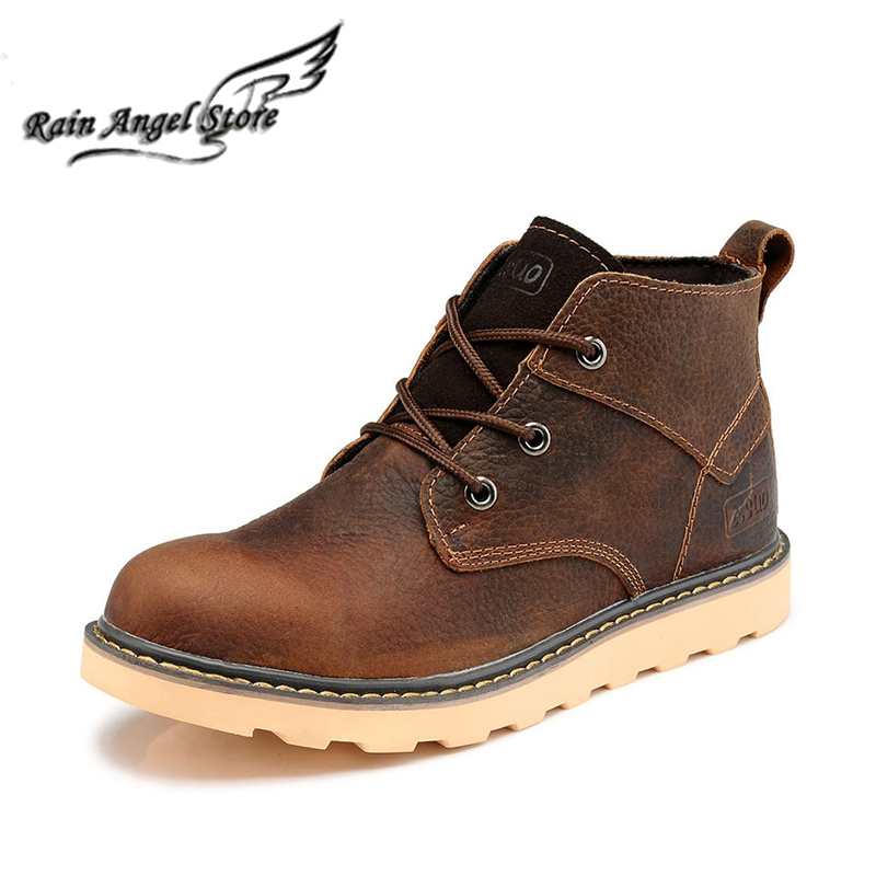 British Men Boots Autumn Fashion Men Shoes High Tops Brand Tooling Boots Genuine Leather Ankle Boots botas masculinas<br><br>Aliexpress