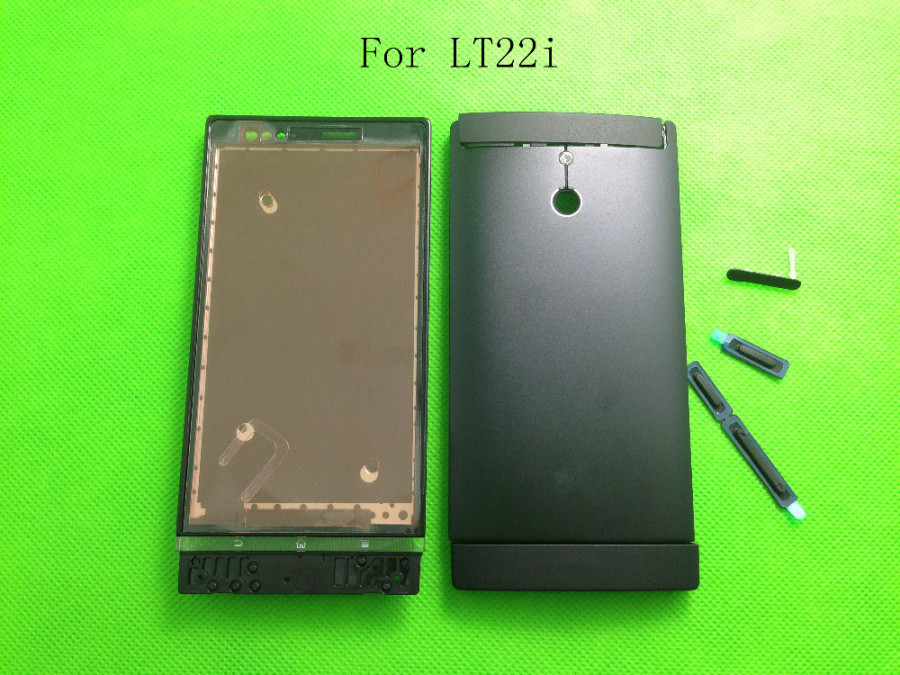 Original For Sony Xperia P LT22 LT22i Housing Cover Battery Case+Button Keys Replacement In Mobile Phone +LOGO,Free Shipping(China (Mainland))