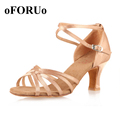 2017 new brand girls women s ballroom tango salsa latin dance shoes 6 5cm heel SR100