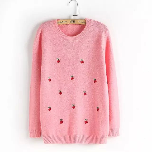 high quality arrival women sweaters sweet cute animal printed knitwears female slim knitted pullovers Ladies tops plusAB9154(China (Mainland))