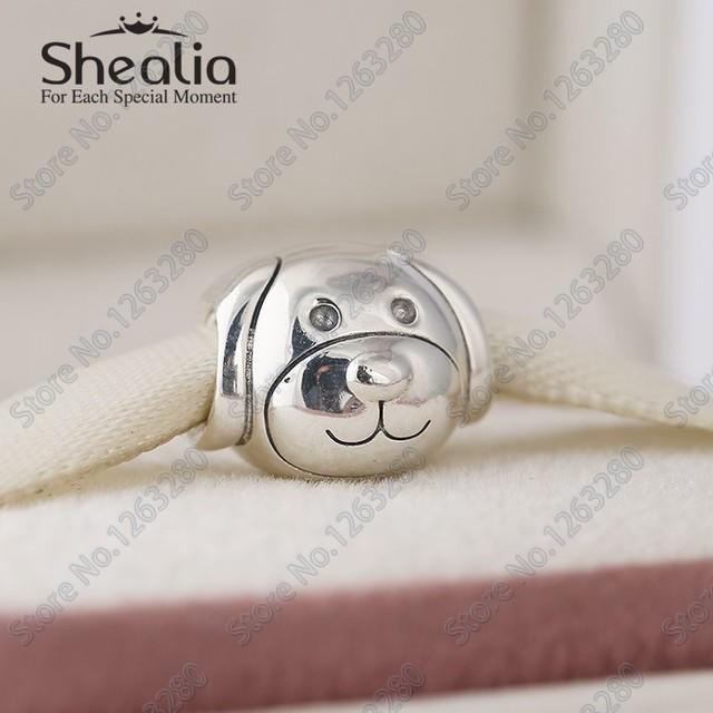 Преданная собака бусины осень животное бусины 925 чистое серебро Shealia ювелирные изделия подходит бренд своими руками браслеты BD259
