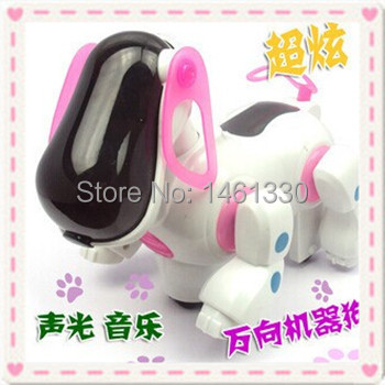 Robot dog electronic pets plastic toy intelligent electronic robot dog electronic toys baby toy lectronic pets lot for kids(China (Mainland))