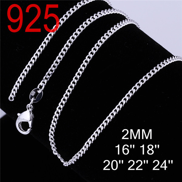 2014 women men chain for pendant round beads string Fashion 925 sterling silver metal cupper alloy