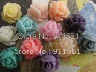 supernova sales Free shipping12mm 13Colors Resin Flowers for Jewelry/Mobilephone Decoration DIY Handmade Accessories 40PCS/lot(China (Mainland))