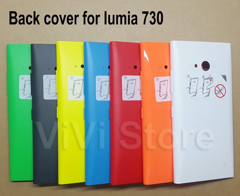 жилья замена для nokia lumia 730, обратно крышку батареек для nokia 735, с боковой кнопкой