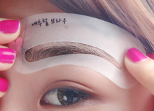 2015 hot sale Eyebrow stencils 3 styles reusable eyebrow drawing guide card brow template DIY make up tools(China (Mainland))