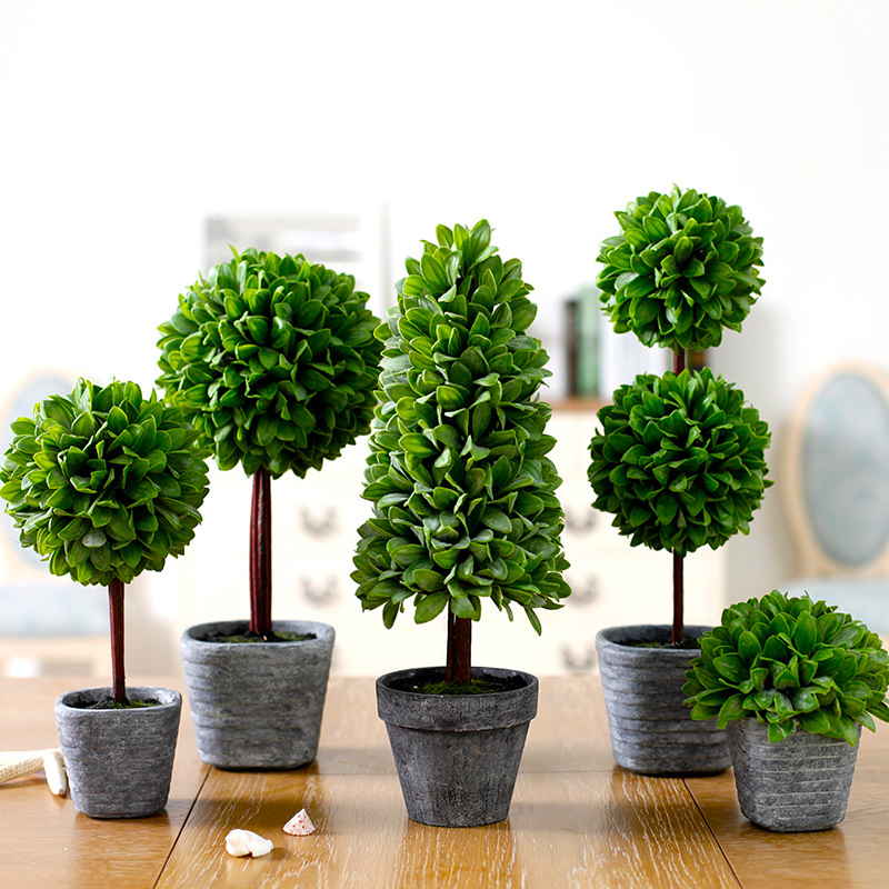 High imitation potted holly leaf indoor plants decoration for Artificial plants for decoration