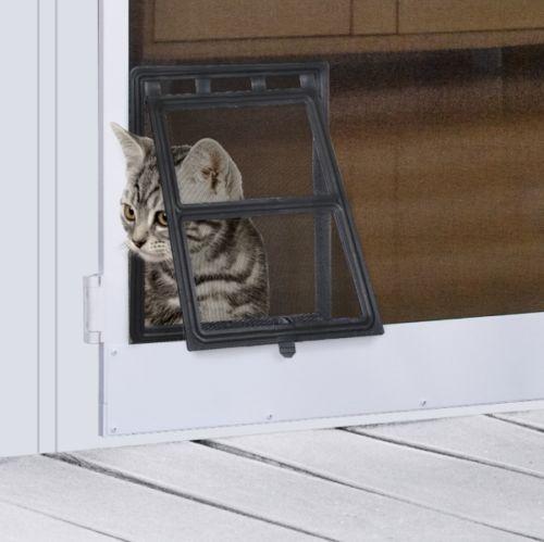 4 Way Small Medium Pet Lockable Safe Flap Door