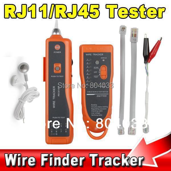 UTP STP RJ45 RJ11 Cat5 Cat6 LAN Cable Tester finder Handheld Network Ethernet Wire Telephone Line Detector Tracker Tool kit(China (Mainland))