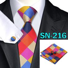 40 Style Tie hanky cufflink Sets 2015 Fashion 100% Silk Neckties Ties for mens gravata  For Wedding Pa