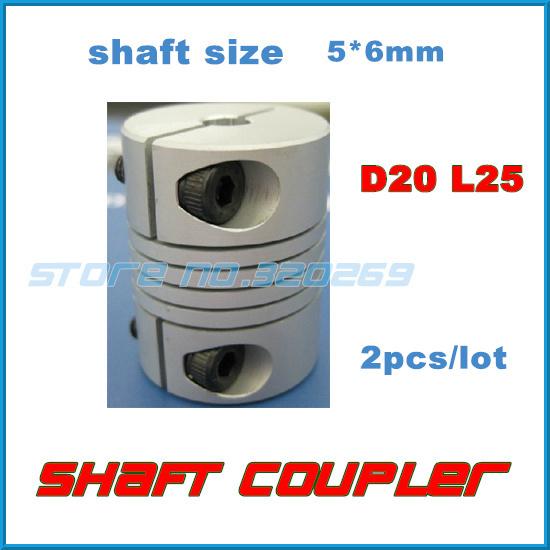 Муфта для соединения валов OEM 2 /5 6 5 * 6 Flex 20 25 D20 L25 2 5 6