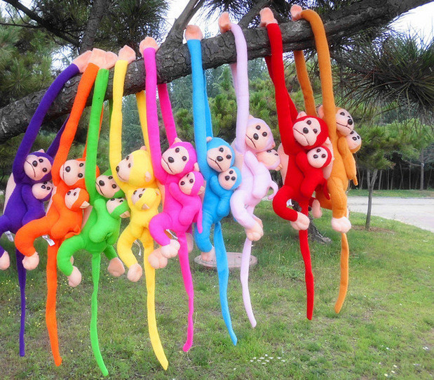 The new long arm monkey plush toy monkey hanging monkey doll will be called dazzling variety of colors(China (Mainland))